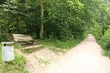 Bad_Urach_Waterfall_028_06232018 - As if the flat and wide Urach Waterfall Trail wasn't enough, there were also rest benches along the way