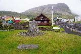Baejarfoss_002_08172021 - Checking out some kind of memorial dedicated to Otto A Arnason in the center of Ólafsvík