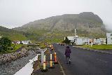 Baejarfoss_008_08172021 - Mom going up the Kirkjutún Street as we approached Bæjarfoss during our August 2021 visit
