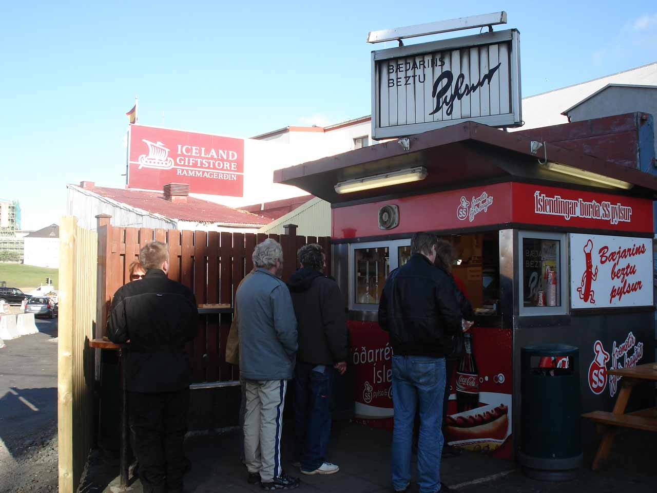 The Bæjarins Beztu hot dog stand