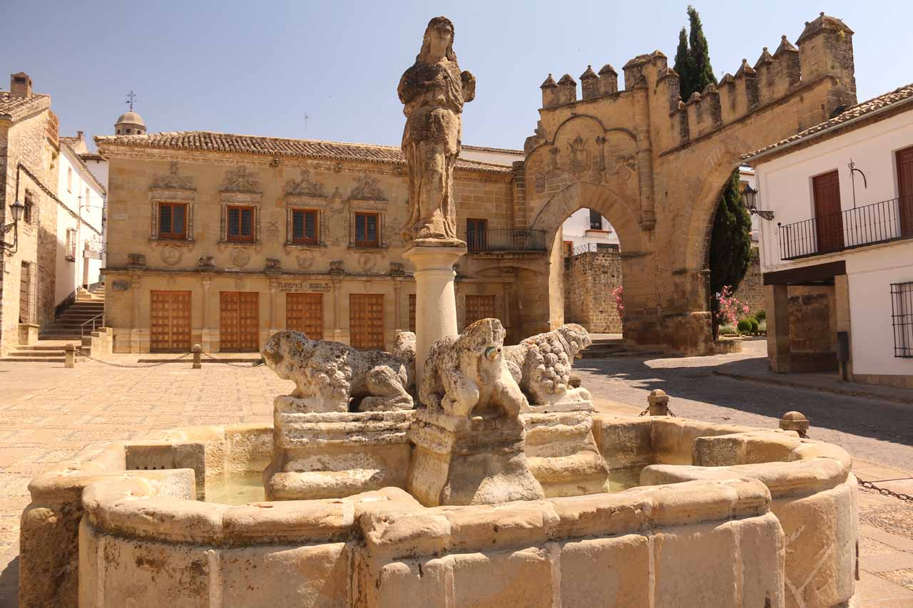 Not to be outdone, Baeza (like a sister town to Úbeda) was also a UNESCO World Heritage town for historical structures like the Fontana de Leones shown here