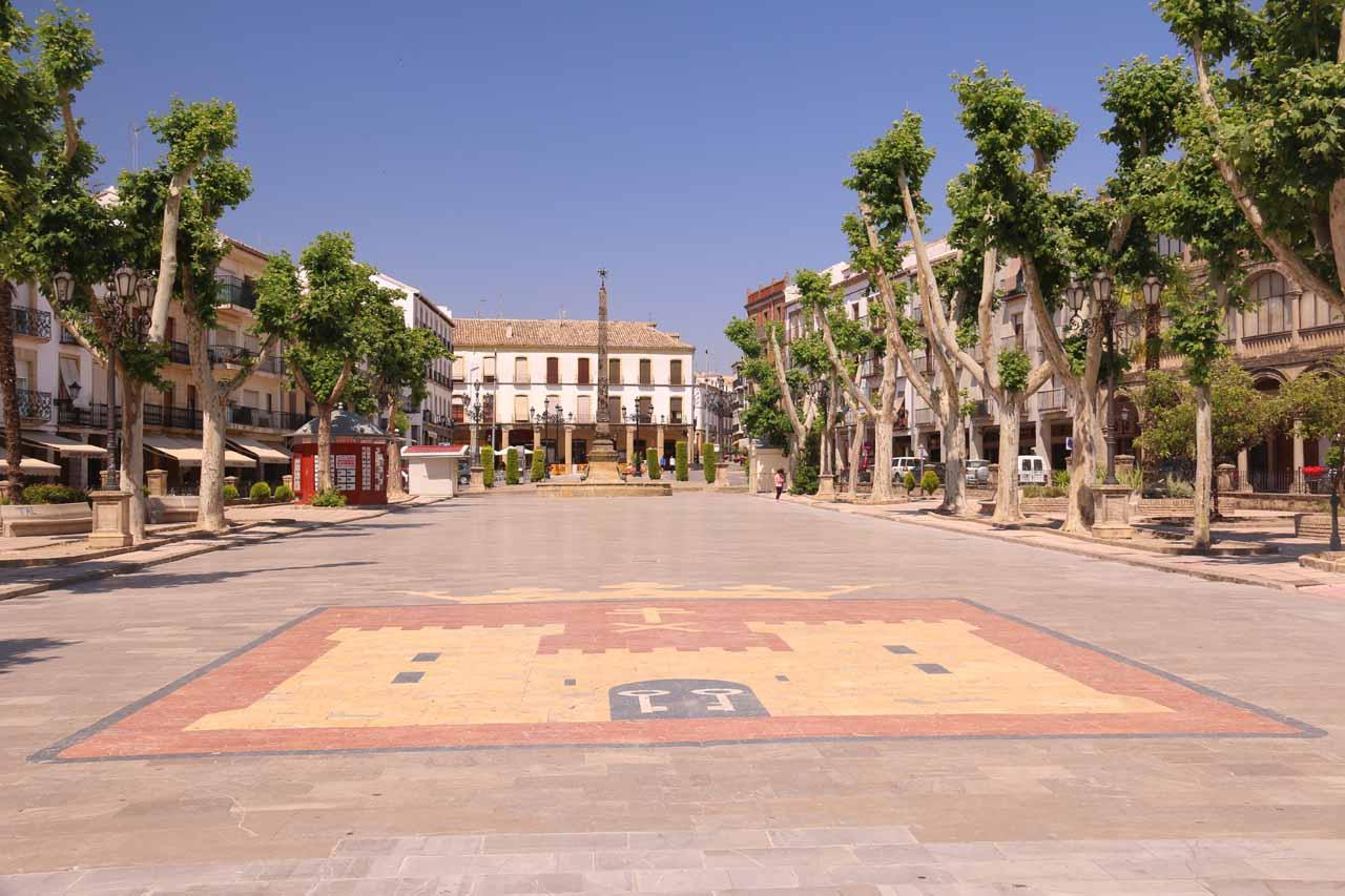 Back at the Paseo de la Constitucion in the center of town