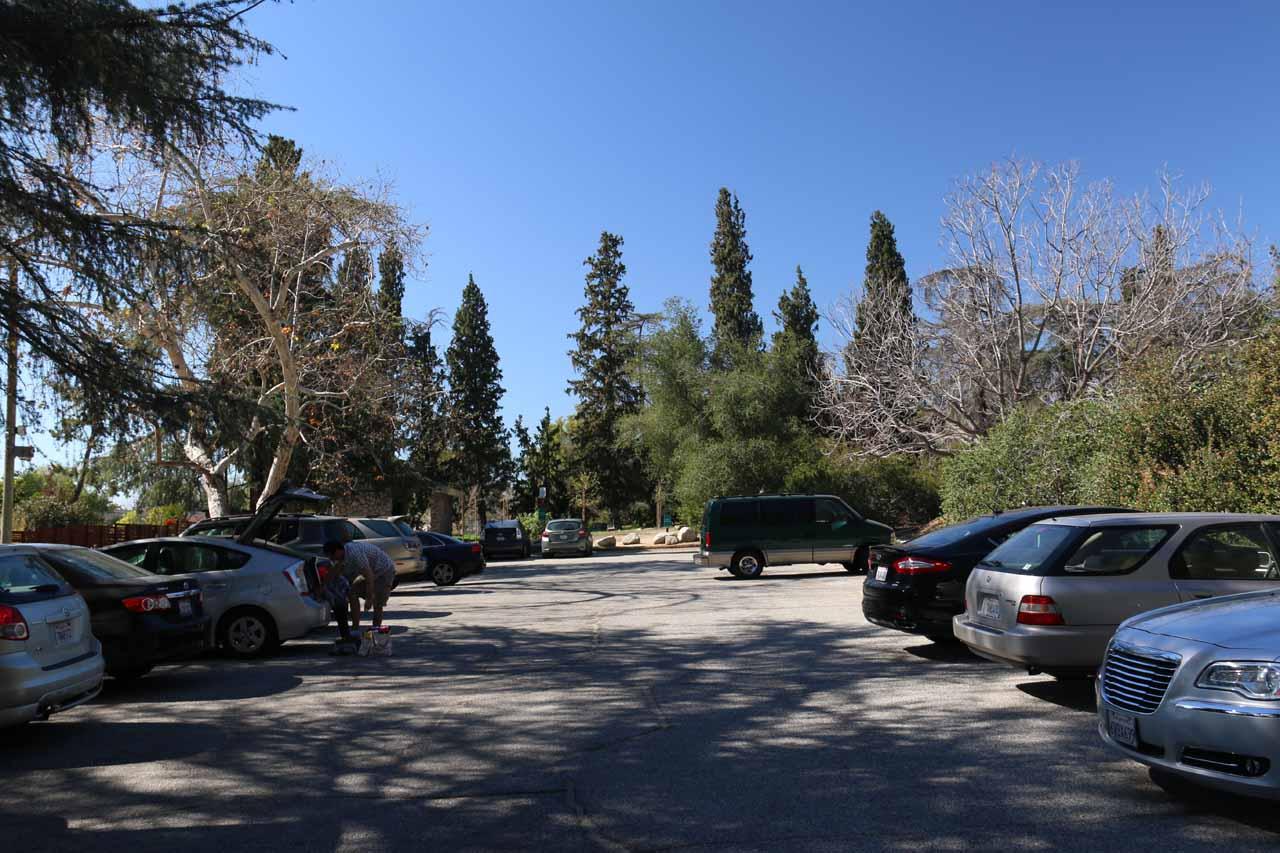 The car park for Bailey Canyon Park