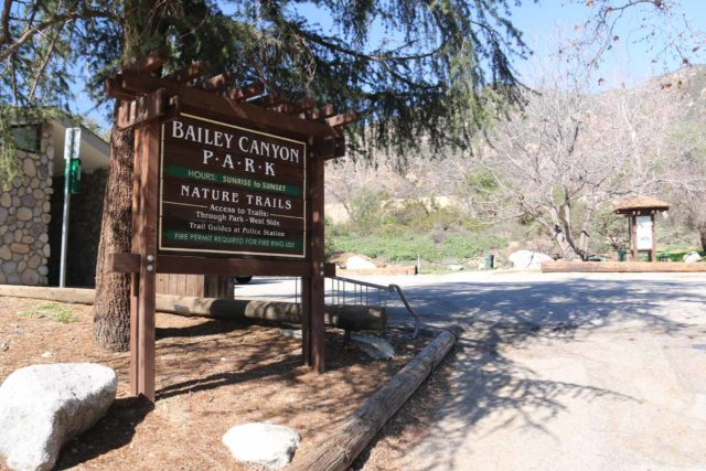 Bailey_Canyon_004_02062016 - Sign at the entrance to the Bailey Canyon Park