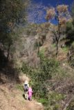 Bailey_Canyon_042_02062016 - Julie and Tahia hiking within Bailey Canyon, which was noticeably narrower and more overgrown