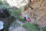 Bailey_Canyon_084_02062016 - Julie and Tahia making their way back out of Bailey Canyon after our disappointing first visit in January 2016