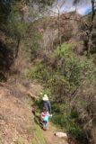 Bailey_Canyon_Falls_025_01212017 - Julie and Tahia doing some moderate stream scrambling towards Bailey Canyon Falls