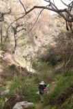 Bailey_Canyon_Falls_029_01212017 - Tahia and Julie navigating through some increasingly rough terrain within Bailey Canyon