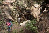 Bailey_Canyon_Falls_038_01212017 - Julie and Tahia approaching the disappointing Bailey Canyon Falls