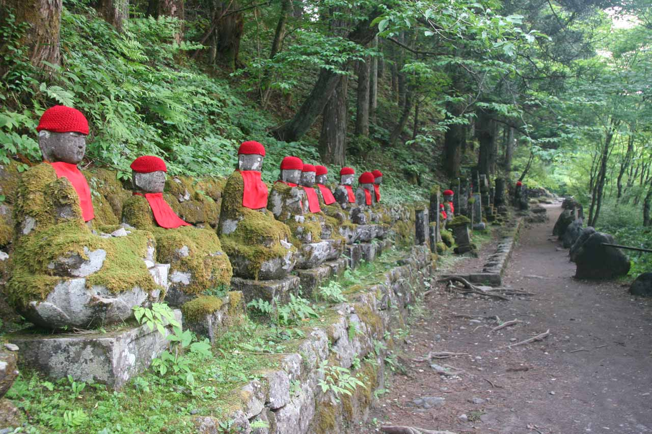 Also in Nikko was the atmospheric (and eerie) line of statues of the Bake Jizo