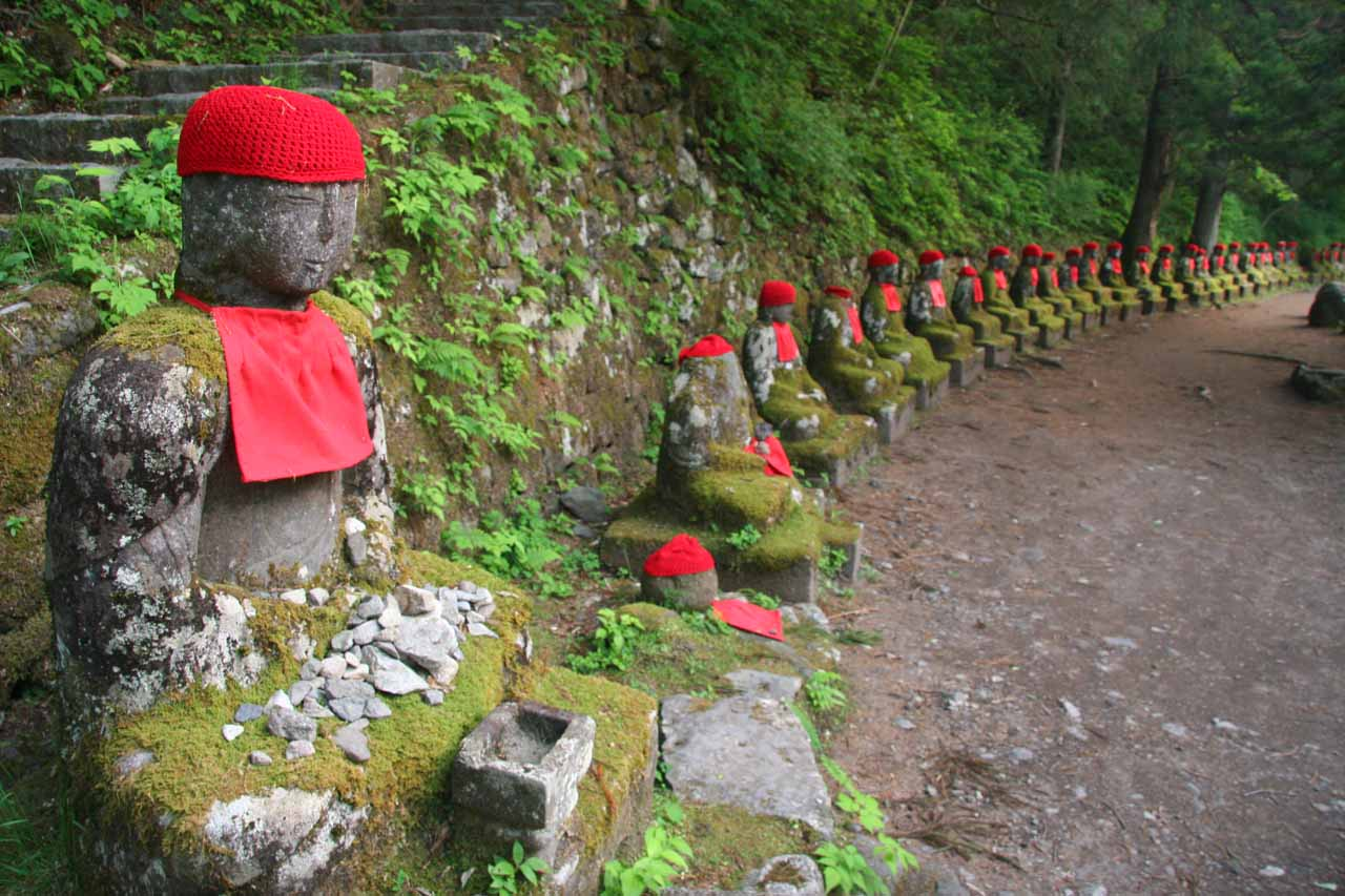 Also in Nikko was the atmospheric (and eerie) line of statues of the Bake Jizo, which was near where we were staying on the outskirts of town