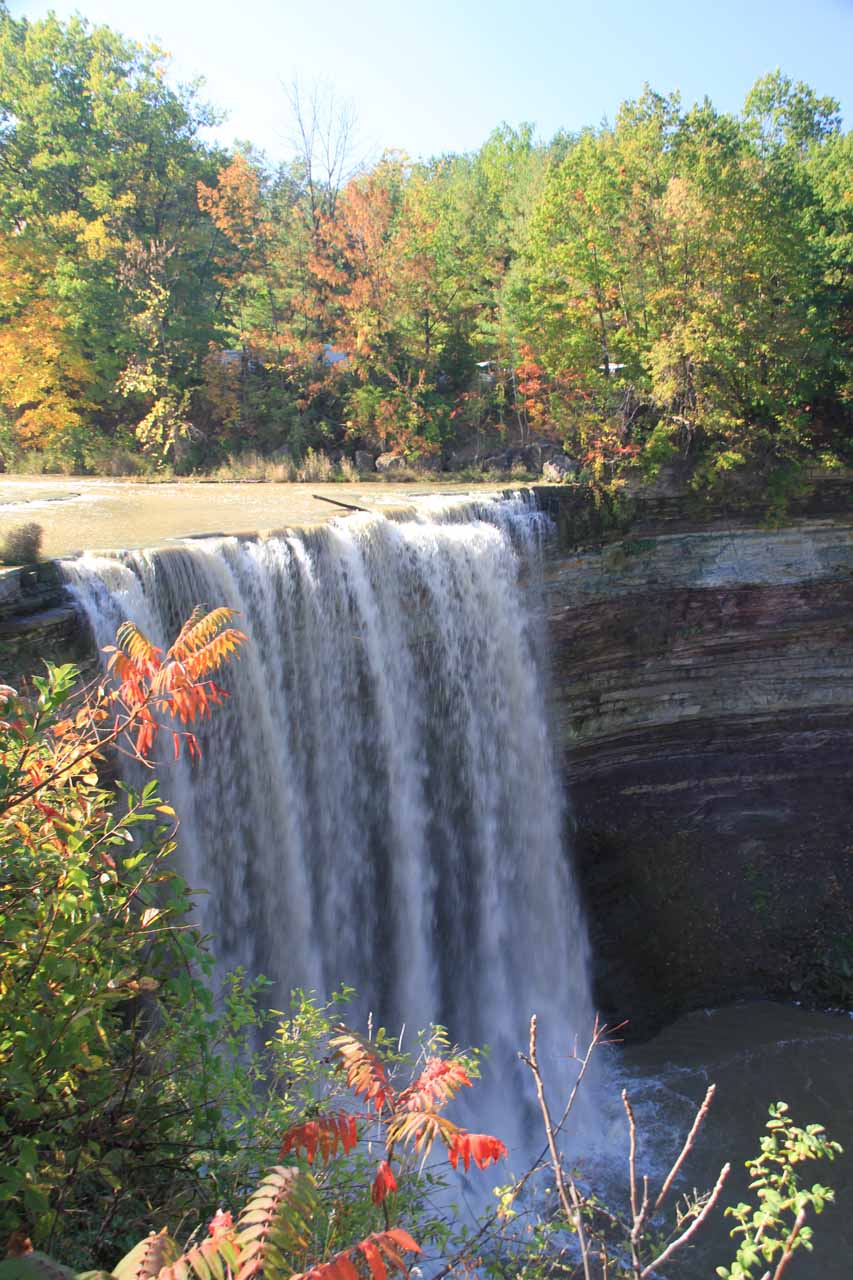Balls Falls from the sanctioned overlook