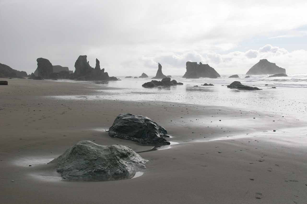 Bandon Beach, which was further south along the Oregon Coast from Coos Bay, was the reason we stumbled upon Silver Falls