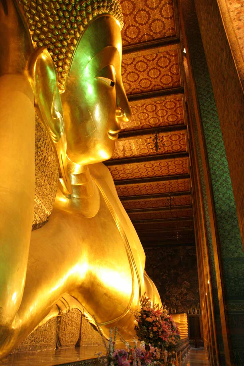 Looking from the head of the reclining Buddha