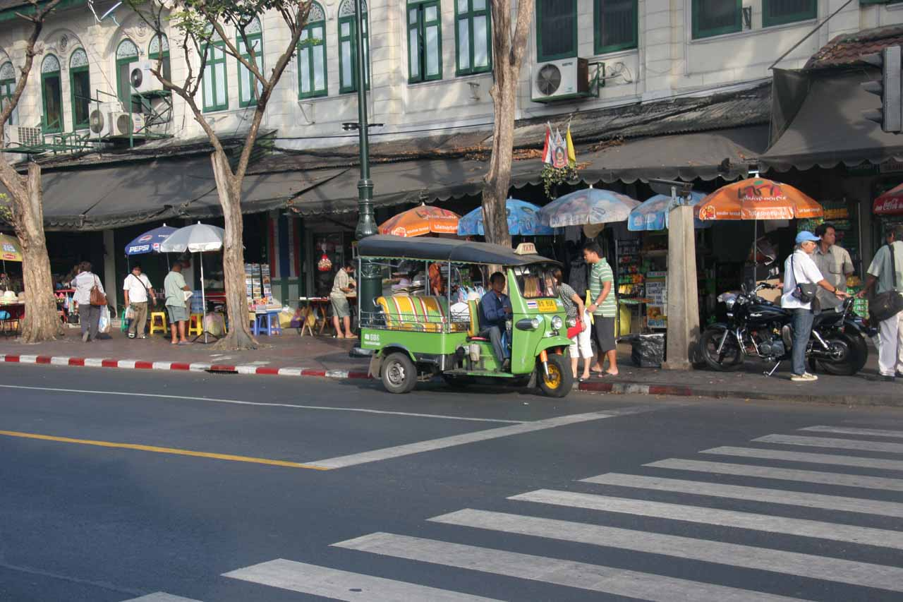 Tuk tuk across the street