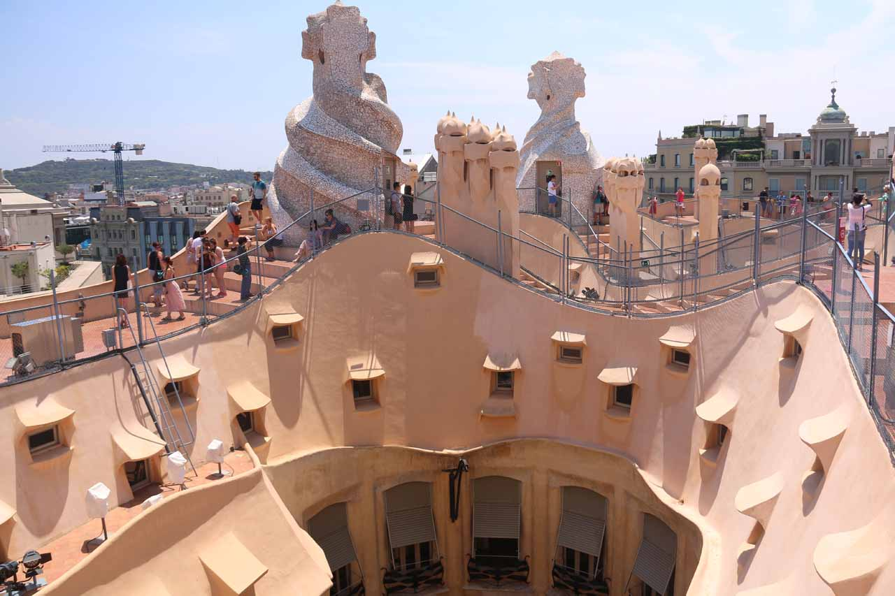 It was about 250km (about 3.5 hours drive) from Espot to Barcelona, but the capital of Catalonia was essentially Antonio Gaudí's canvas as places like the rooftop of La Pedrera (Casa Milá) exemplified