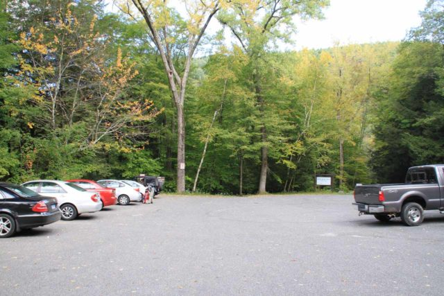 Bash_Bish_Falls_002_09292013 - The parking lot on the Massachusetts side of the Bash Bish Falls Trail
