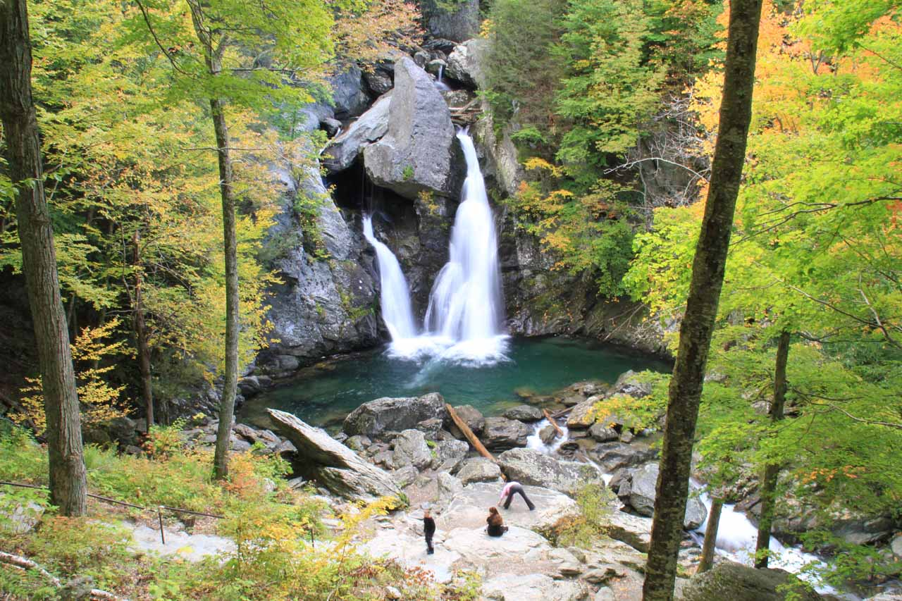 Contextual view of Bash Bish Falls from the upper overlook to further provide a sense of the size of the falls