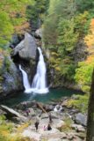 Bash_Bish_Falls_041_09292013 - Contextual look at the Bash Bish Falls with Autumn foliage starting to show as well as people enjoying the experience down below