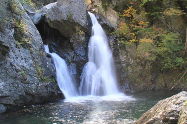 Bash_Bish_Falls_070_09292013 - Closer look at the base of Bash Bish Falls and its deceptively dangerous plunge pool
