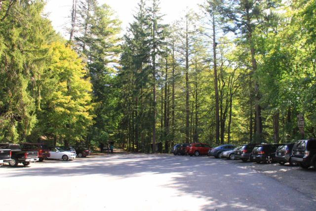 Bash_Bish_Falls_087_09292013 - The fairly big and very busy parking lot on the New York side of the Bash Bish Falls Trail