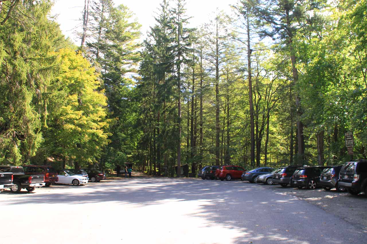 This was the car park for the New York Trailhead just a mile west of the Massachusetts Trailhead