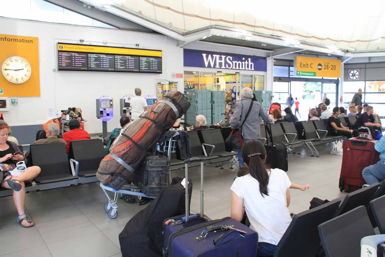 Waiting at the Central Bus Station at Heathrow