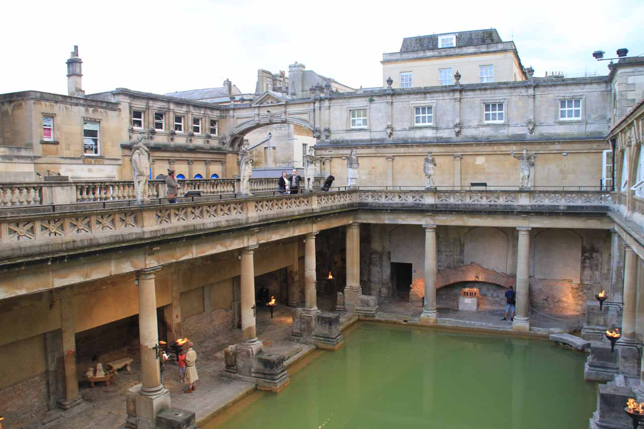 Top down look at the Roman Bath