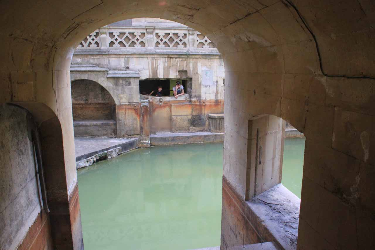 Partial view of some of the other Roman Baths within the Bath Spa area