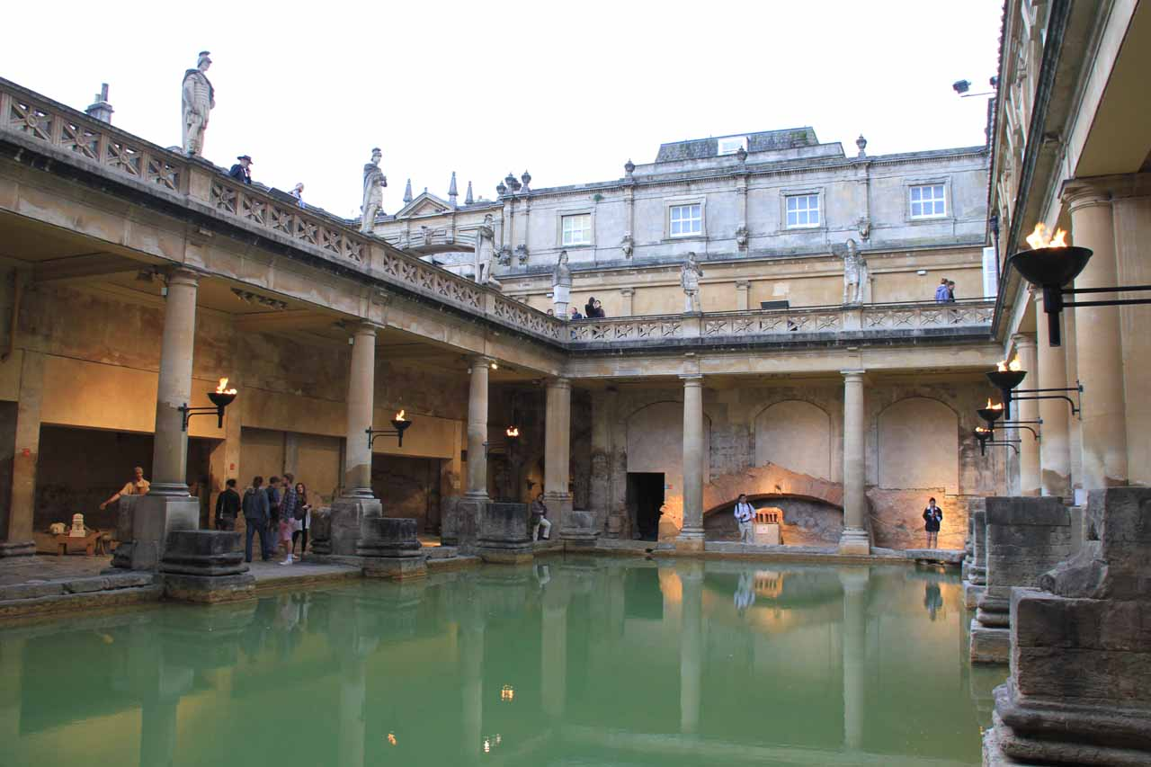 Looking across the main Roman Bath from the lower level