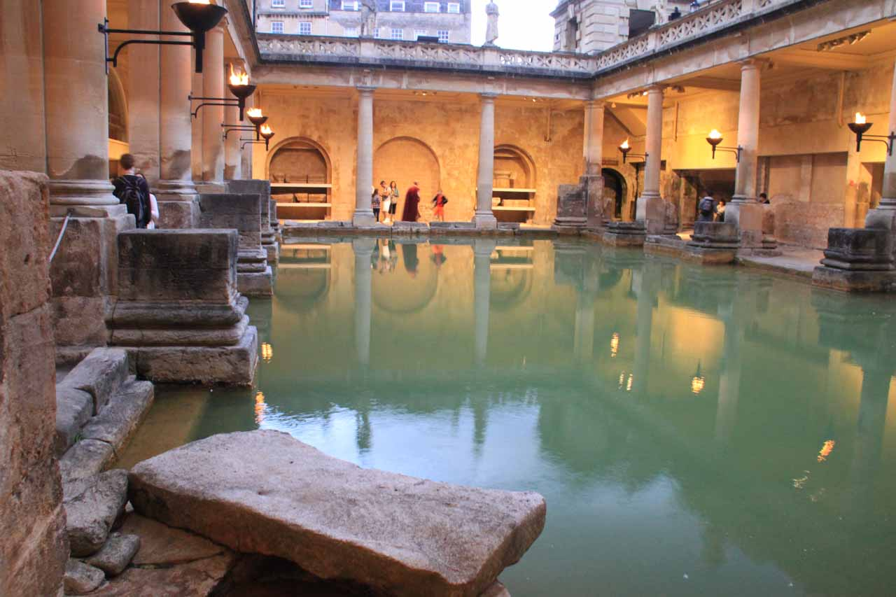 Twilight at the Bath Spa's lower level