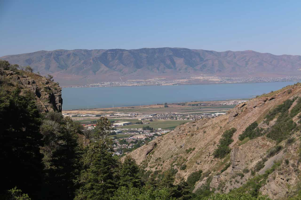 From the Battle Creek Trail, we could look back towards Utah Lake looming behind the suburb of Pleasant Grove