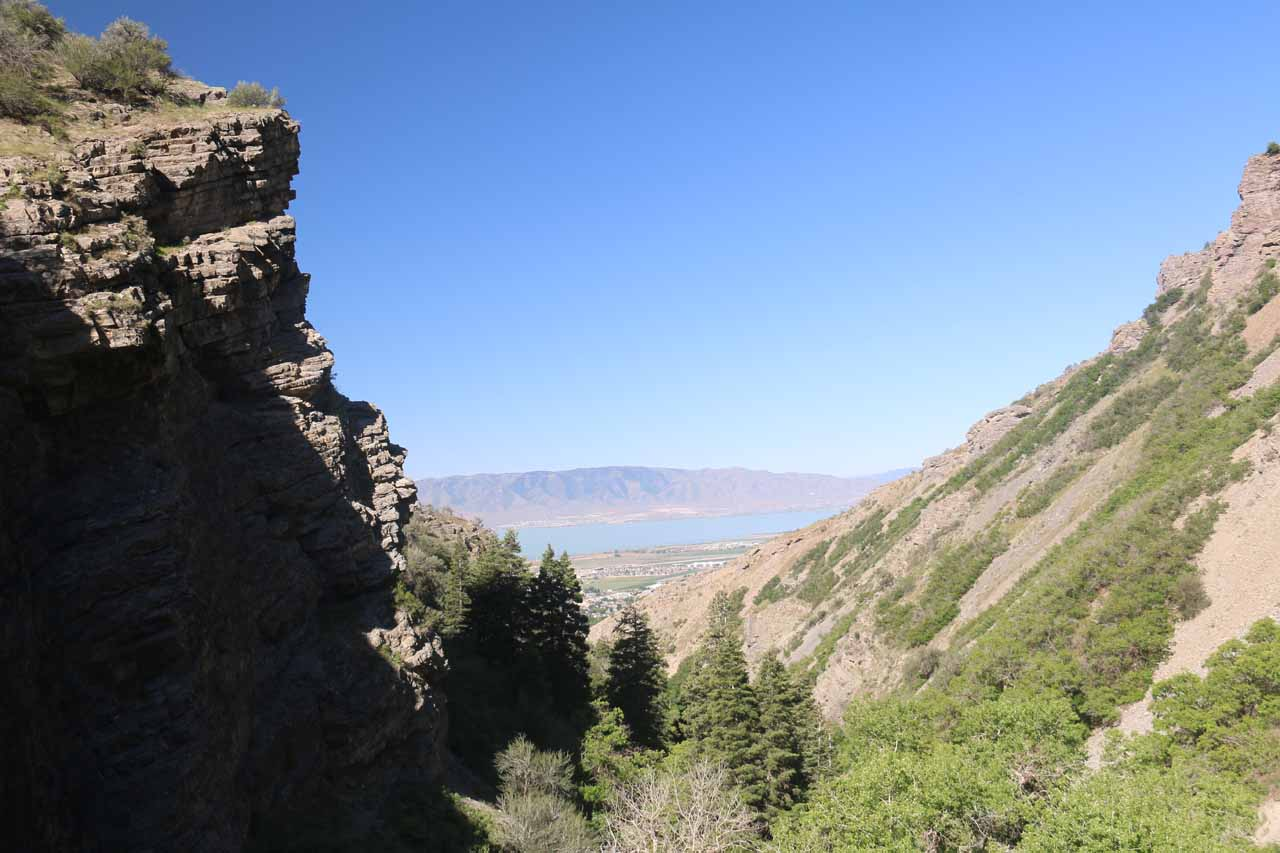 This was the view back towards Utah Lake from the top of Battle Creek Falls