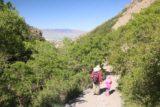 Battle_Creek_Falls_117_05282017 - Julie and Tahia descending the Battle Creek Trail with Utah Lake in the distance