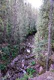 Bear_Creek_Falls_034_07232020 - Looking down into Bear Creek from the Bear Creek Trail where there was an angler having an early morning start to his fishing activities