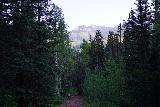 Bear_Creek_Falls_040_07232020 - Looking back at someone who had a very early start heading back to Telluride after having finished her hike to Bear Creek Falls