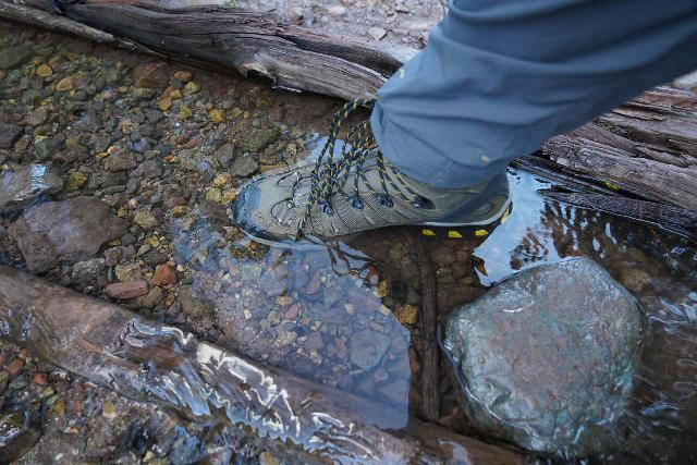 The Salomon Quest 4D 3 GTX boot does have some degree of water resistance