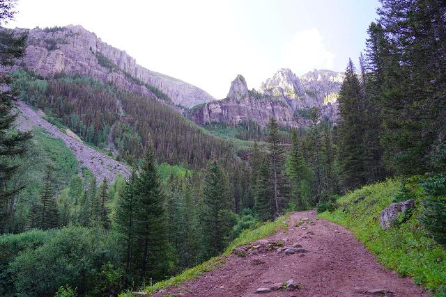Bear_Creek_Falls_062_07232020 - In my mind, Bear Creek Falls was one of Telluride's most popular trails because it afforded views of beautiful rocky mountains surrounding the trail itself