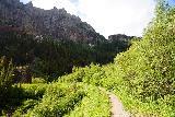 Bear_Creek_Falls_110_07232020 - Approaching a large squarish boulder along the Bear Creek Trail