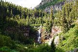 Bear_Creek_Falls_120_07232020 - An unusual frontal view of Bear Creek Falls from within Bear Creek just past the squarish boulder