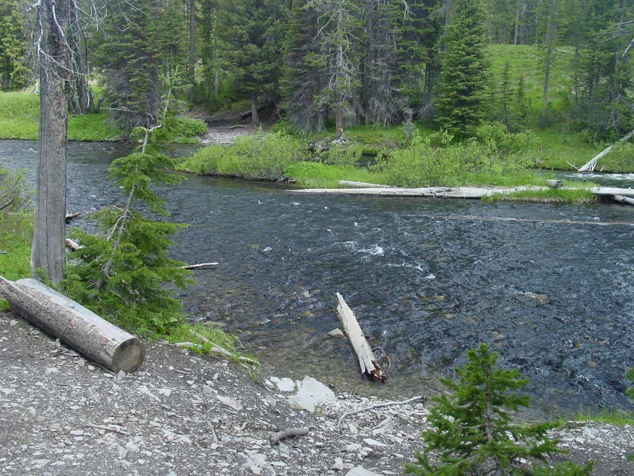 Falls River Crossing en route to Union Falls
