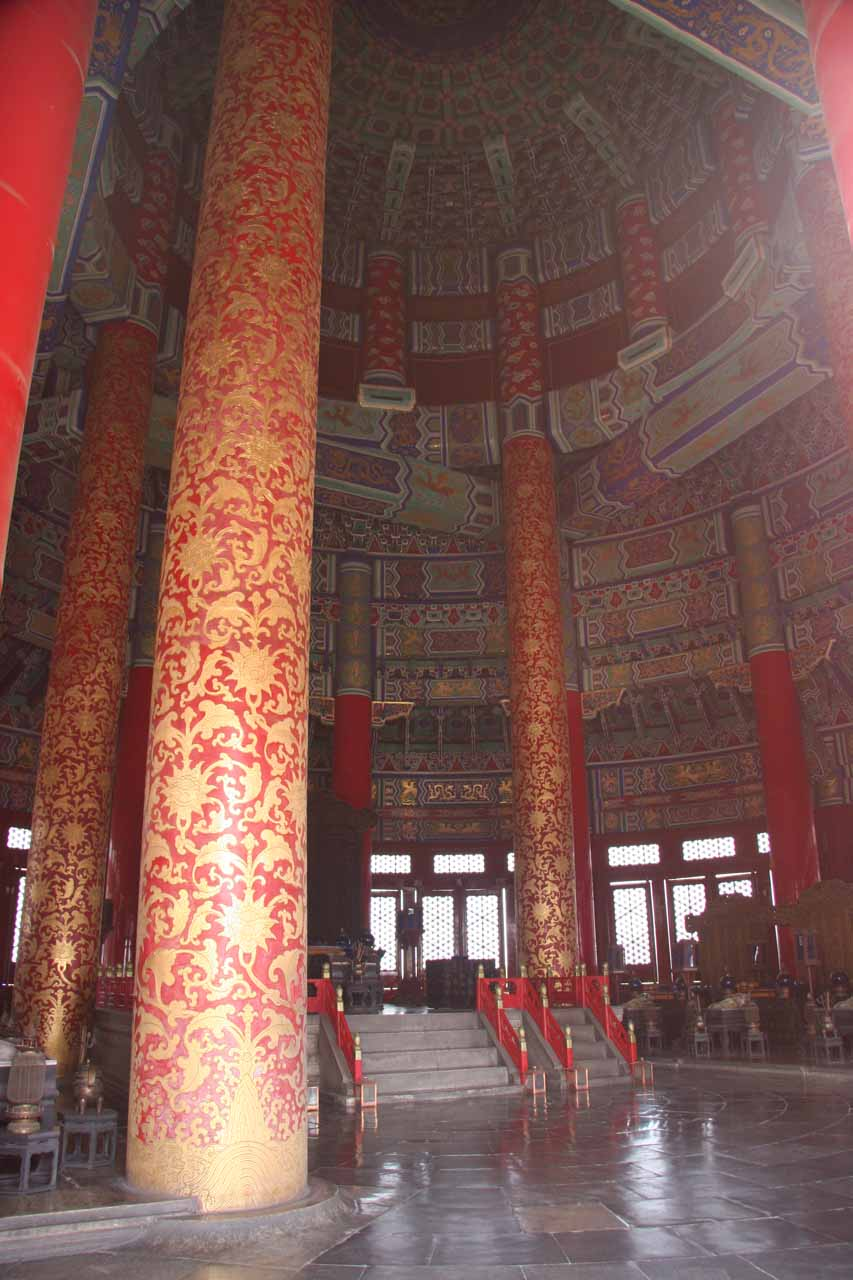 The interior of Temple of Heaven