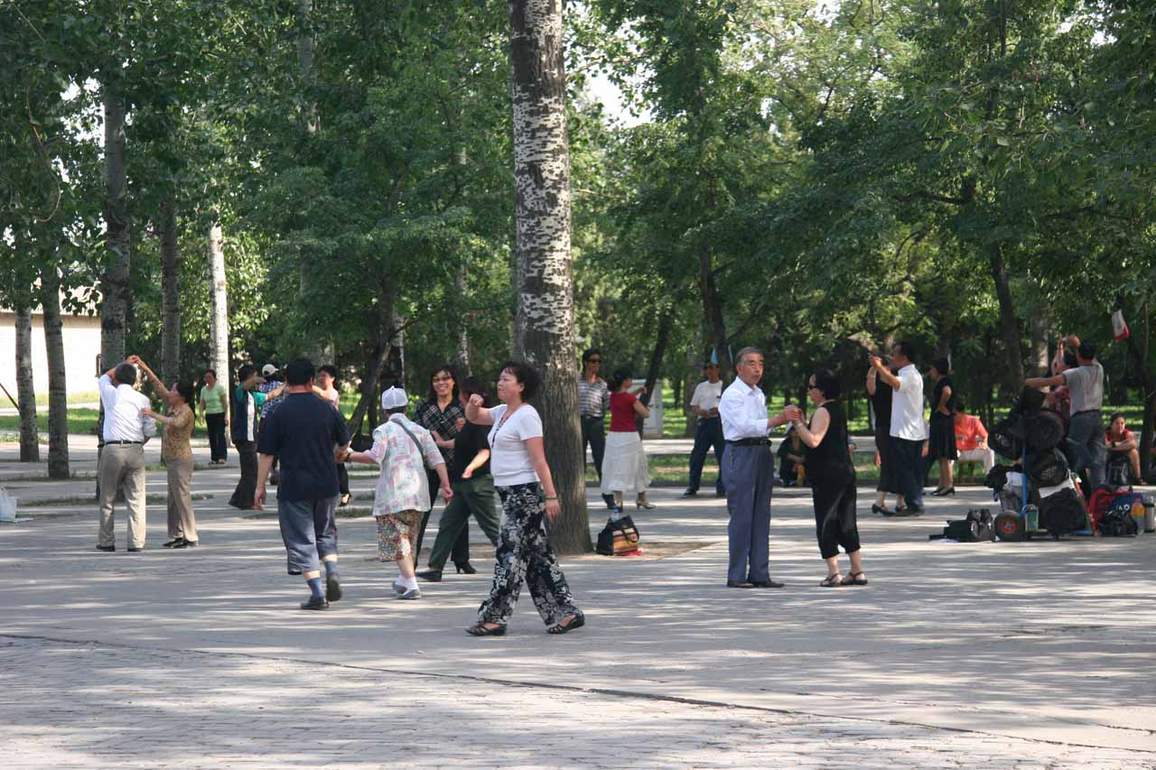 Some locals doing ballroom dancing at the Temple of Heaven entrance