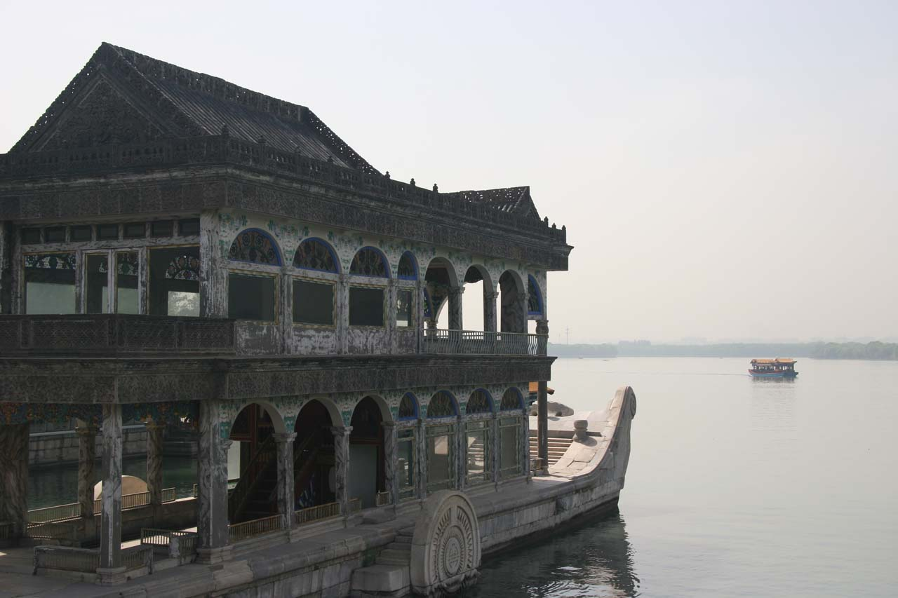 Some kind of marble boat at the Summer Palace