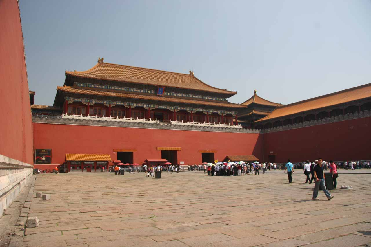 Trying to convey the grandeur of the courtyard of the Forbidden City