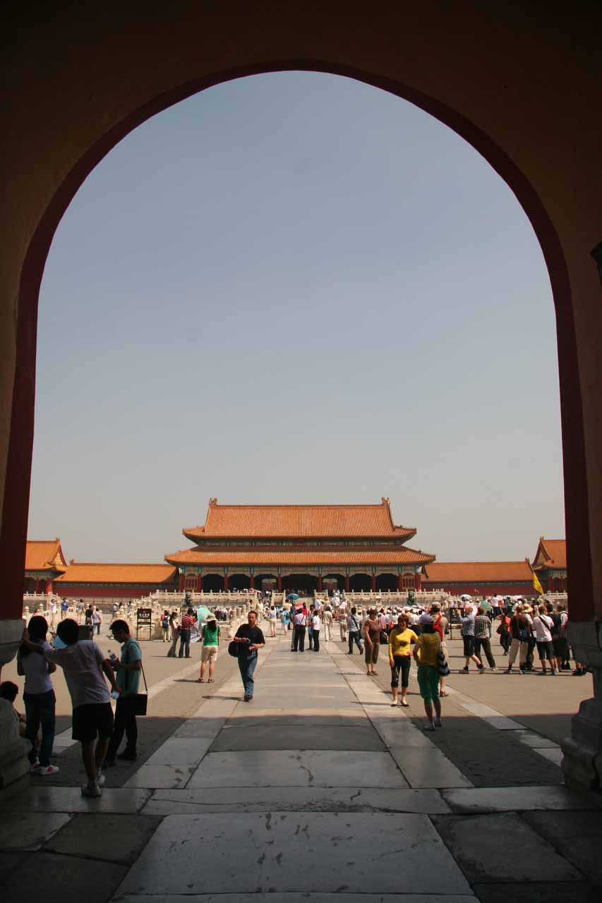 Entering the main part of Forbidden City