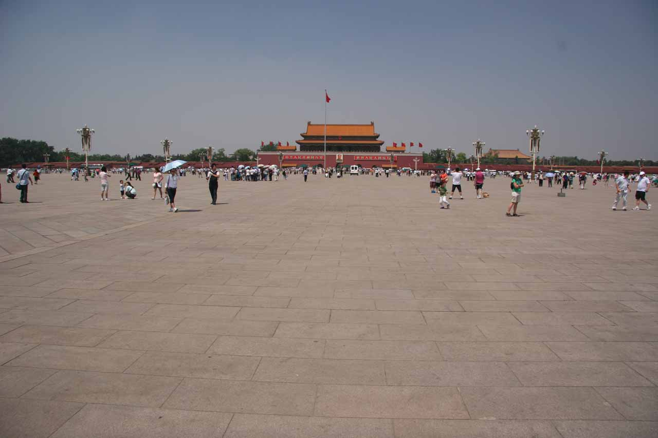 The wide open space of Tiananmen Square