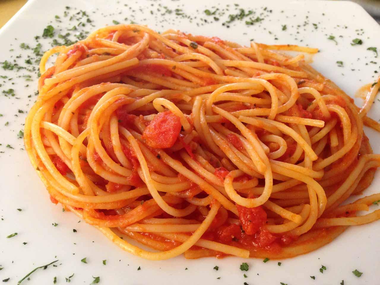 The spaghetti pomodoro