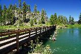 Benham_Falls_013_06272021 - Crossing a footbridge across the Deschutes River en route to Benham Falls