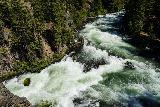 Benham_Falls_066_06272021 - Broad look down at Benham Falls from a precarious rock outcrop